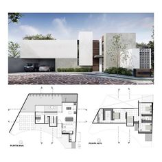 8 Cheap Things to Maximize a Small Bedroom. Minimalist House Design, Minimalist Architecture, Modern Architecture House, Architecture Plan, Residential Architecture, Architecture Details, Contemporary House Plans, Modern House Plans, Plan Ville
