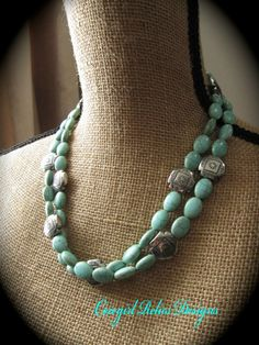 Classic Western Necklace Turquoise with by cowgirlrelicsdesigns, $30.00