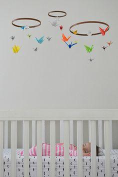 177 baby mobile origami cranes #baby #nursery #DIY