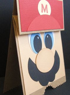 It's Mario Time Birthday Greeting Card Party by ElvesInTheAttic