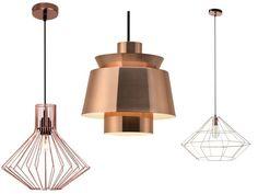 luminaire cuivre nouveauté suspension géométrique - Le blog déco de MLC