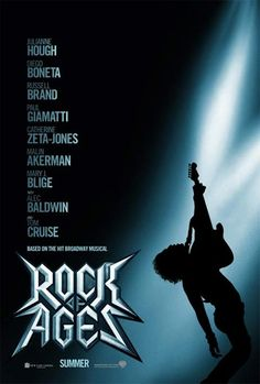 ROCK OF AGES Movie Trailer and Poster. Julianne Hough, Diego Boneta, and Tom Cruise star in the adaptation of the Broadway musical Rock of Ages. Def Leppard, Tom Cruise, Joan Jett, 2012 Movie, Movie Tv, Tv Series Online, Movies Online, Glam Rock, Bon Jovi