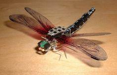 Solar-powered dragonfly.