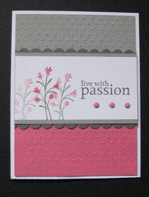 Pocket Silhouettes (SU) - Going grey, basic grey and regal rose. Pretty simple, but I liked these colors together. Got all my flowers p. Embossed Cards, Stamping Up Cards, Flower Cards, Flower Stamp, Card Sketches, Sympathy Cards, Card Tags, Paper Cards, Cool Cards