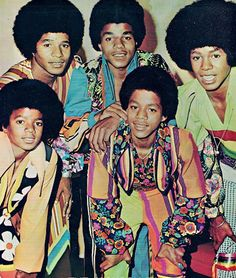 The J5 wearing crazy wonderful outfits designed by Boyd Clopton (1972)