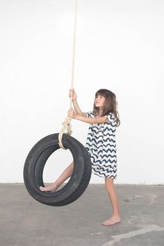 Tunic Dress Waves - Summer collection Bobo Choses - Online Kids Webshop - Goldfish.be