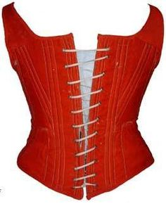 Red wool became fashionable for undergarments at the end of the 1850′s and was used forpetticoats, cage crinolines and corsets.