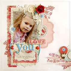 fancy scrapbooking! But nice!