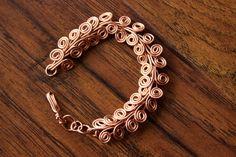 Egyptian Coil Copper Bracelet by TerraArcana on Etsy