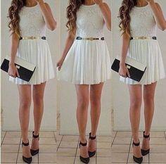 Blanco con cinturón