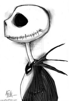 The Nightmare Before Christmas Jack Skellington Creepy Drawings, Dark Art Drawings, Halloween Drawings, Pencil Art Drawings, Art Drawings Sketches, Disney Drawings, Cute Drawings, Tim Burton Style, Tim Burton Art