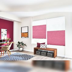 Pink isn't just a color, it's an attitude. Budget Blinds, Cellular Shades, Window Treatments, Pretty In Pink, Attitude, Contemporary, Color, Home Decor, Decoration Home
