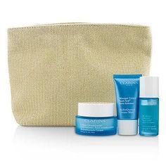 Moisture Must-Haves Set: HydraQuench Cream 50ml + Serum 15ml + Cream Mask 15ml + Bag - 3pcs+1bag