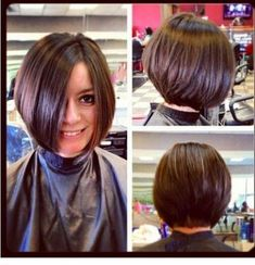 11 Best Stacked Bob Hairstyles 2018 - 2019 - On Haircuts Bob Hairstyles 2018, Stacked Bob Hairstyles, Haircuts For Fine Hair, Brunette Hairstyles, Pixie Haircuts, Curly Hairstyles, Celebrity Hairstyles, Wedding Hairstyles, Hair Styles 2016