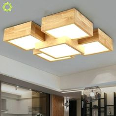wood ceiling light creative bedroom lamp style solid wood ceiling lamp aisle lighting for living roo Ceiling Light Design, False Ceiling Design, Ceiling Lamp, Ceiling Lights, Wooden Ceiling Design, Wood Lights, Plafond Design, Wooden Ceilings, Creation Deco