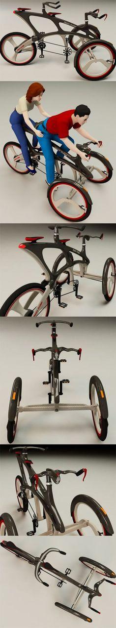 The Twin Trike concept by designer Cikaric Dragan