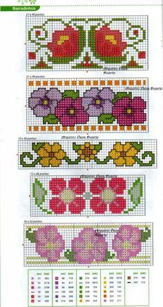 123 Cross Stitch, Cross Stitch Bookmarks, Cross Stitch Borders, Cross Stitch Flowers, Cross Stitching, Cross Stitch Embroidery, Cross Stitch Patterns, Tapestry Crochet Patterns, Knitting Paterns