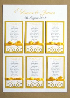 Daisy Lace Wedding Table Plan A2 - craft punch. www.theweddingparty.it - Wedding planner Verona Italy - Wedding destination
