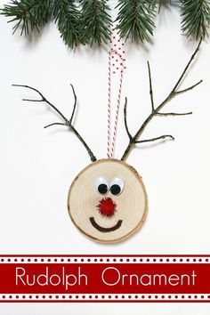 Rudolph Ornament by @artzycreations | Learn how to make your own ornament! DIY Ornament tutorial