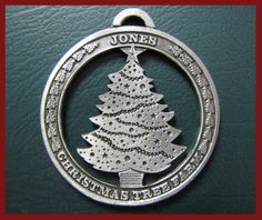 1990s: An early ornament we gave to guests as they harvested their tree. Notice the farm name was still Jones Christmas Tree Farm.