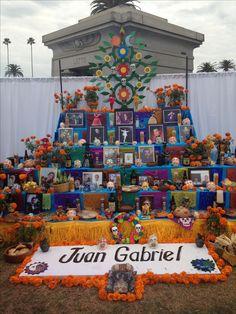 Dia de los Muertos, Hollywood Forever Cemetery 2016. Juan Gabriel altar.