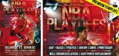 NBA Playoffs – Premium Flyer Template http://www.exclusiveflyer.com/premium-templates/nba-playoffs-premium-flyer-templates/