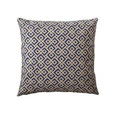 Navy Lattice Pillow Cover - Serena & Lily