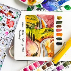 I have recently been enjoying painting loose watercolor landscapes. I get most of my references from unsplash. Watercolor Landscape, Watercolor Paintings, World Water, Colour Pallette, Art Day, Landscapes, Sketchers, Paper, Instagram