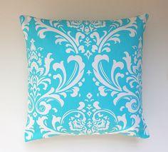 Pillow Throw Throw Pillow Cushion Aqua Blue by PrettyPillowsDecor