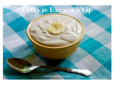 Cottage Banana Whip- An easy, 5 ingredient THM E. I love peanut butter and banana in a combo!