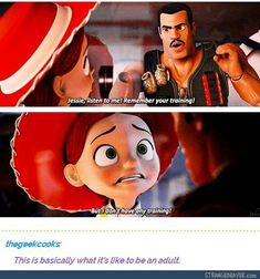 Give me your best disney memes My Tumblr, Tumblr Funny, Funny Memes, Hilarious, Pixar, Infp, Lol, To Infinity And Beyond, It Goes On