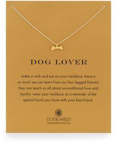 Dogeared Dog Lover Bone-Pendant Necklace