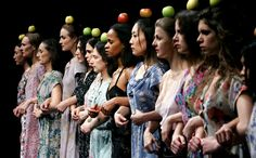 Pina Bausch's production: This is a scene from Palermo Palermo, which was performed in 2005