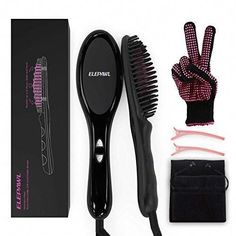 Hair Straightening Brush,ELEPAWL 3 in 1 MCH Heating Floating Ionic Straightener Brush with Anti-Scald, Portable Frizz-Free Hair Care for Silky Straight Comb,Auto Temperature Lock& Auto-off Function Ceramic Hair Straightener, Best Hair Straightener, Hair Straightening, Ceramic Hair Brush, Rebonded Hair, Professional Hair Straightener, 4a Hair, Frizz Free Hair, Makeover Tips