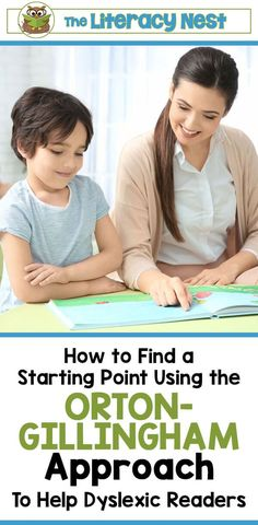How To Find A Starting Point Using The Orton-Gillingham Approach. Finding a starting point is a very important step when beginning your Orton-Gillingham lessons. Click here for the proper tools to help you make the best decision for your students. The Literacy Nest #theliteracynest #ortongillingham #literacysupport