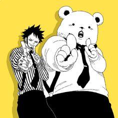 One Piece - Trafalgar and Bepo