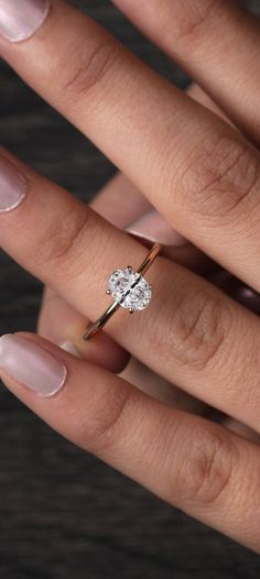 Simple Solitaire Engagement Ring in Rose Gold | ever&ever