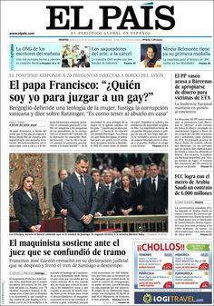 Los Titulares y Portadas de Noticias Destacadas Españolas del 30 de Julio de 2013 del Diario El País ¿Que le pareció esta Portada de este Diario Español?
