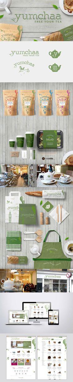 Yumchaa - Branding, Packaging Design, Brand Identity Design, Web Design, Tea Coffe Shop Branding. Created by Graphic Evidence