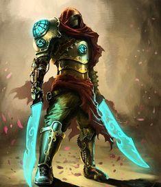 Steampunk warrior by Eduard Kolokolov / https://www.artstation.com/artwork/steampunk-warrior-f71c6e21-276f-4f0e-bf7b-0459104a89c7