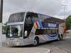 Ônibus da Busscar, antiga empresa de carrocerias do Brasil. Processo de falência se arrasta por anos. Belem, Star Bus, Automobile, Luxury Bus, Volkswagen, Double Decker Bus, Bus Coach, Busses, Motorhome