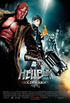 Ron Perlman, Selma Blair, and Doug Jones in Hellboy II: The Golden Army Ron Perlman, Movie Posters, Streaming Movies, Free Movies Online, Movies, Movie Tv, Good Movies, Hellboy Movie, Movie Costumes