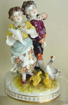 Antique Ceramic Figurine Lenci Art Tiziano Galli Girl