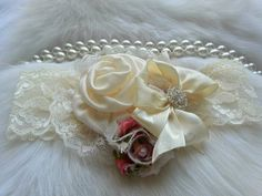 Hey, I found this really awesome Etsy listing at https://www.etsy.com/listing/184419788/ivory-vintage-headbandinfant