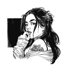 Quick warmup sketch by Cameron Stewart Cartoon Kunst, Comic Kunst, Cartoon Art, Ink Illustrations, Art And Illustration, Character Illustration, Drawing Sketches, Art Drawings, Girl Sketch