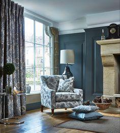 #prestigioustextiles #hampstead #countryliving #homedecor #homeinspo #homeinspiration #fabrics #textiles #softfurnishings #livingroomideas #homeinterior #homeinteriorideas #blue #bluecolourpalette #artsandcrafts #artsandcraftsmovement #britishliving #design #florals #jacobean #curtains #cushions #upholstery Prestigious Textiles, Stunning Wallpapers, Blue Home Decor, Soft Furnishings, Traditional Design, Home Textile, Living Room Designs, Decor Styles, Upholstery