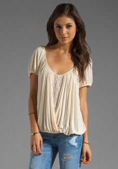FREE PEOPLE Ann's Ruched Top in Tea at Revolve Clothing - Free Shipping!