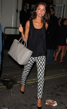 Keeping it minimal: The TOWIE star decided against accessories to leave the focus on the stylish outfit