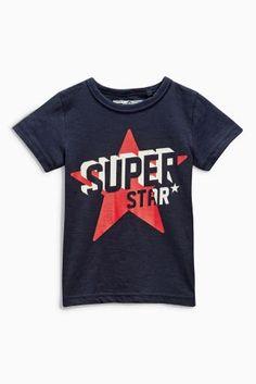 Acheter T-shirt bleu marine à imprimé Superstar (3 mois - 6 ans) disponible en ligne dès aujourd'hui sur Next : France
