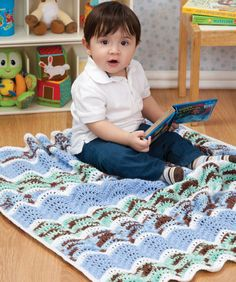 Baby Ripple Blanket Crochet Pattern | Red Heart